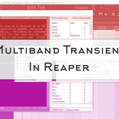 Transient Multibanda in Reaper -www.floratarantino.com