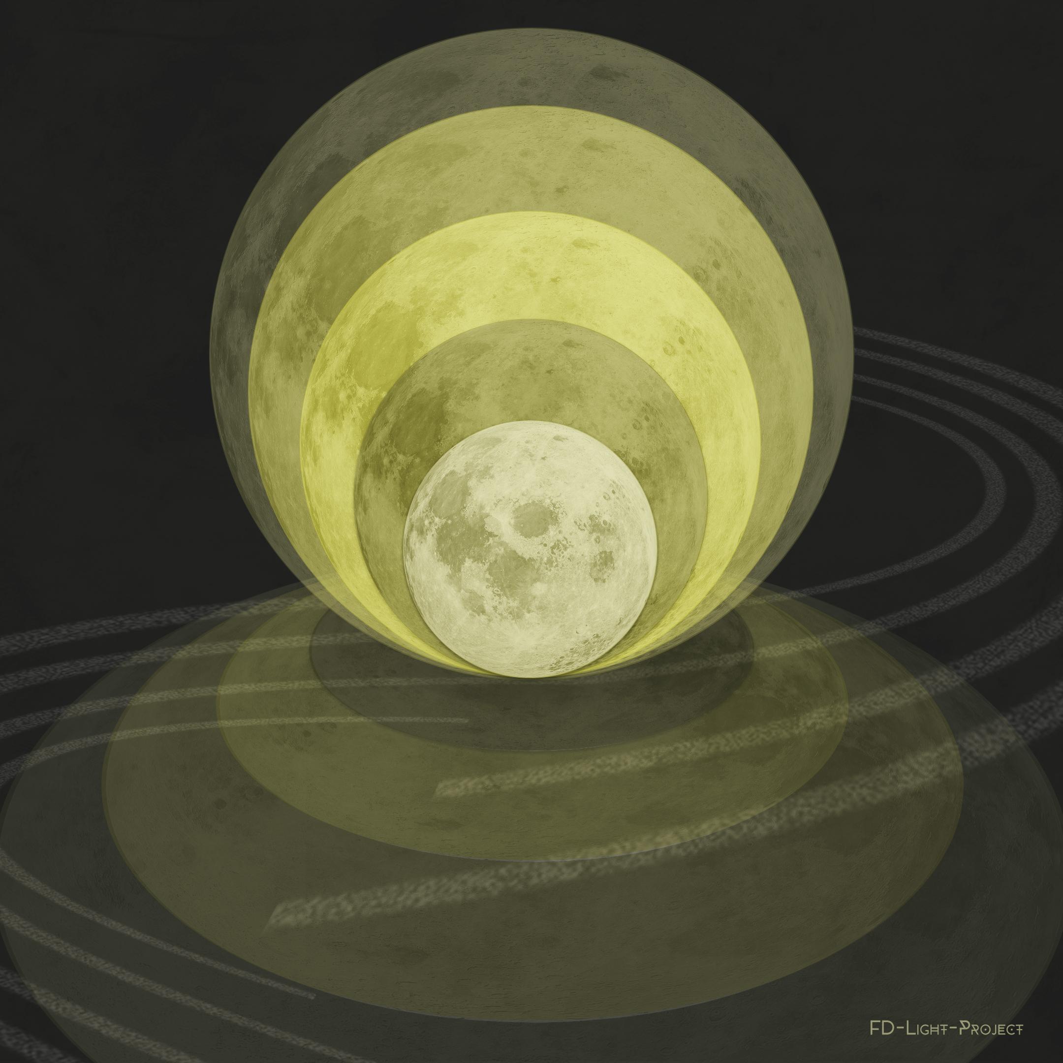 Dislocations, Orbit of the Moon - FD-Light-Project